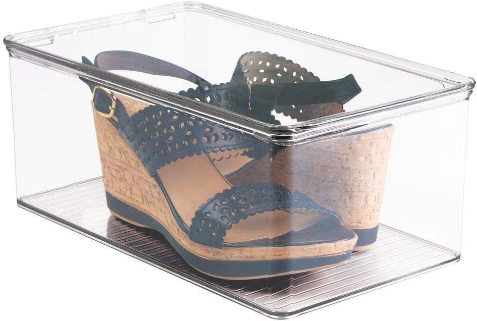 mDesign Cajas de almacenaje para zapatos – Cajas de zapatos ...