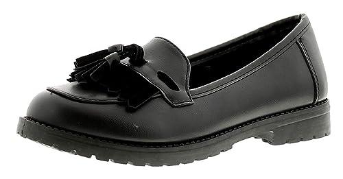 Miss RIOT Annie Niño Niña Zapatos De Colegio Negro - Negro - GB Tallas 1-13 - Negro, 35.5: Amazon.es: Zapatos y complementos