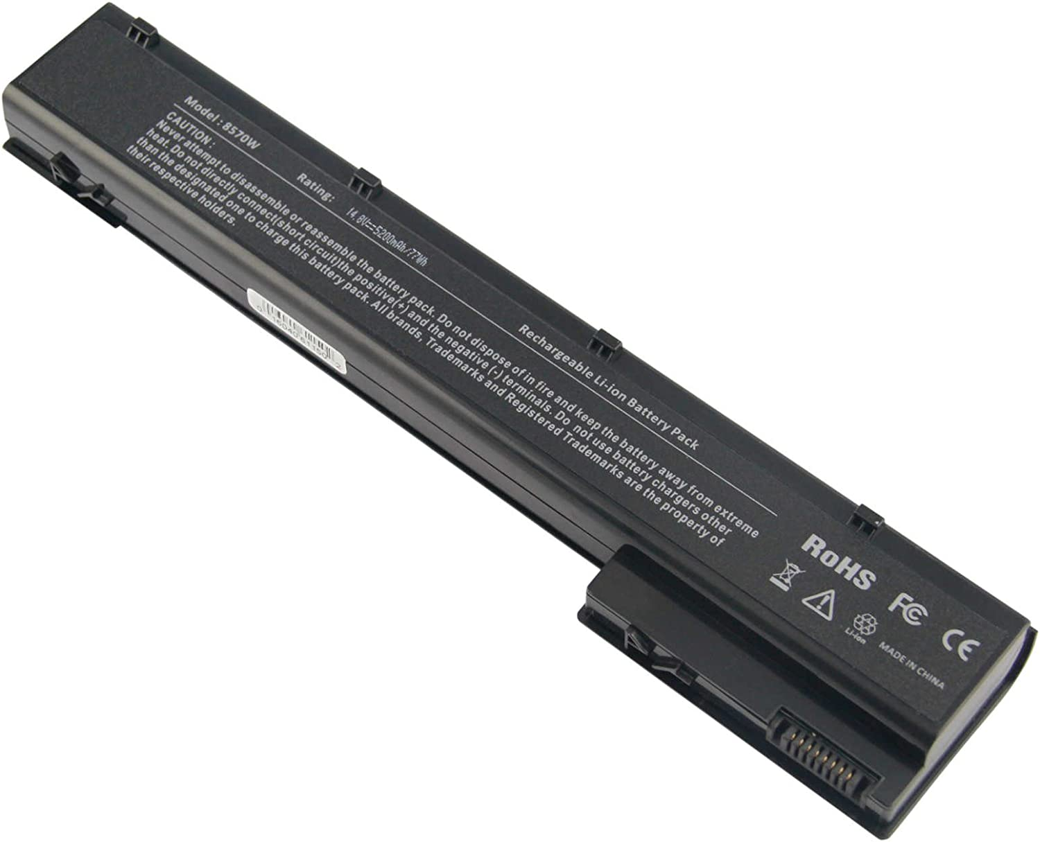 ARyee 8570w Battery Laptop for HP Elitebook 8560W 8570W 8760W 8770W, fit 632113-151 632425-001 632427-001 HSTNN-IB2P HSTNN-LB2P HSTNN-LB2Q HSTNN-F10C HSTNN-I93C VH08