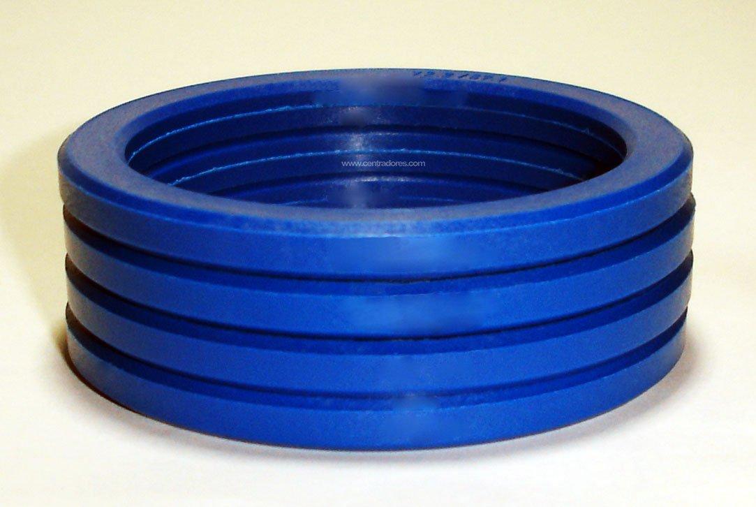 4 bagues de centrage pour jante de voiture 72.2-57.1 mm