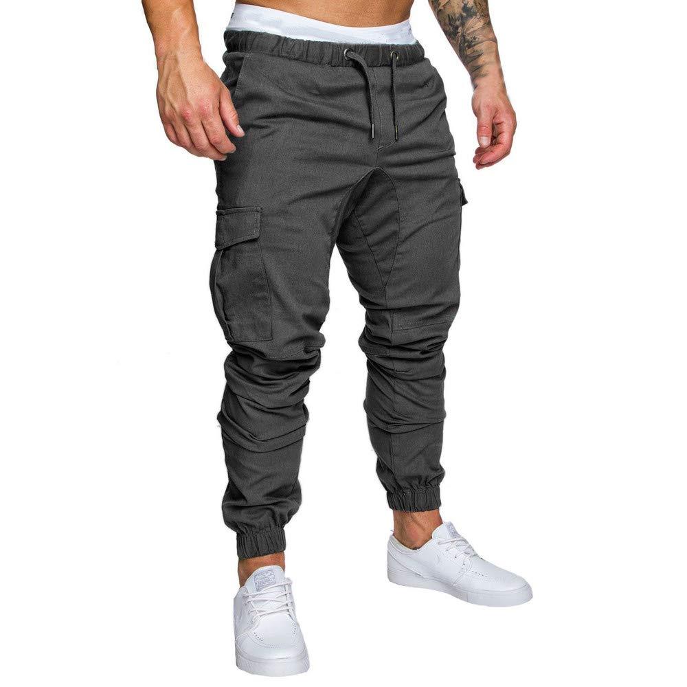 Dragon868 Pantaloni Uomo Cargo con Tasche Grand Cotone Outdoor Pantaloni Taglie Forti Sportive Casual Pantaloni Lavoro