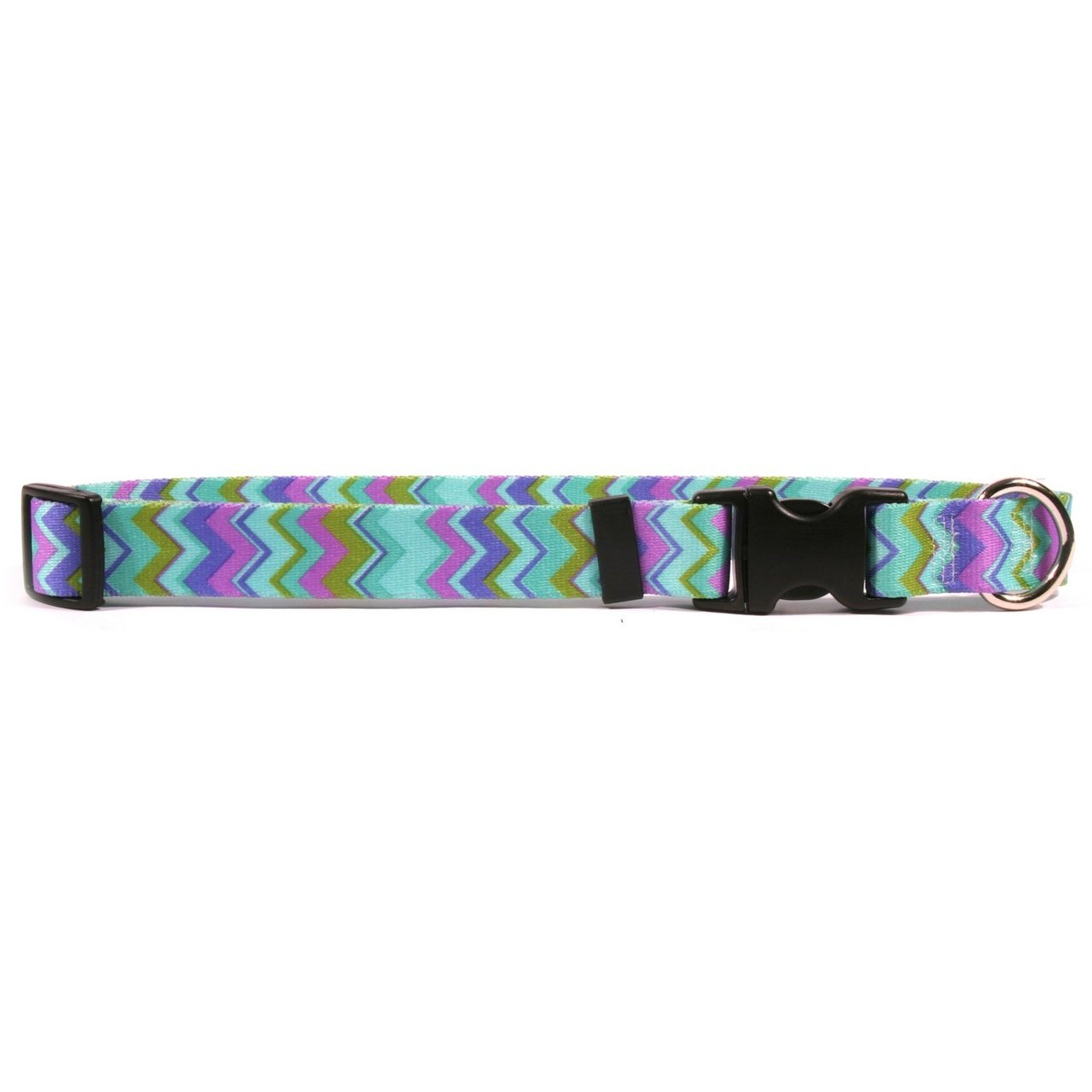 Yellow Dog Design Chevy Stripe Blue Dog Collar 3/4'' Wide and Fits Neck 10 to 14'', Small