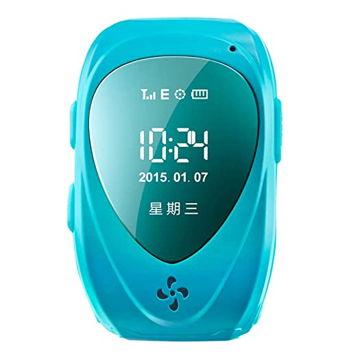 Amazon.com: Walsoon Q50 Kids GPS Tracker Smart Watch Double Locate Remote Monitor SOS Wristwatch Anti Lost for Child (Blue): Cell Phones & Accessories