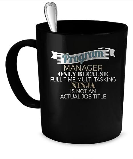 Amazon.com: Programa Manager Taza de café. Programa Manager ...