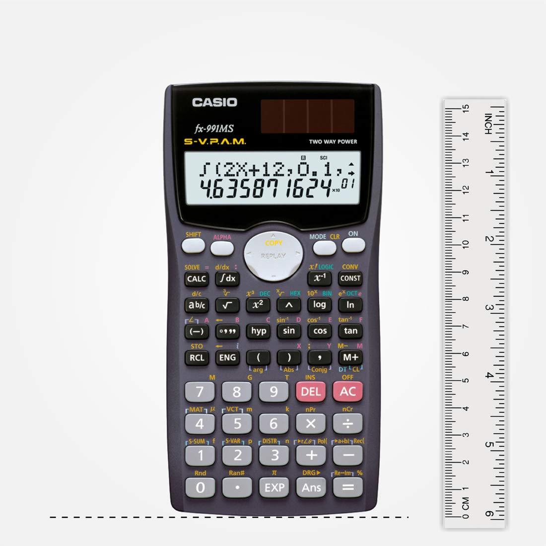 Calculadora Escritorio, Bater/ía, Display calculator, Gris, Plata, Botones, Dot-matrix Casio FX-991MS