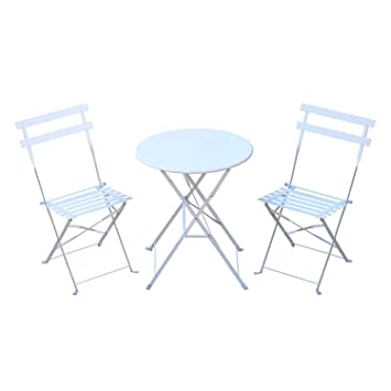 Amazon De Outsunny Bistroset 3 Tlg Gartenset Balkonmobel Garnitur