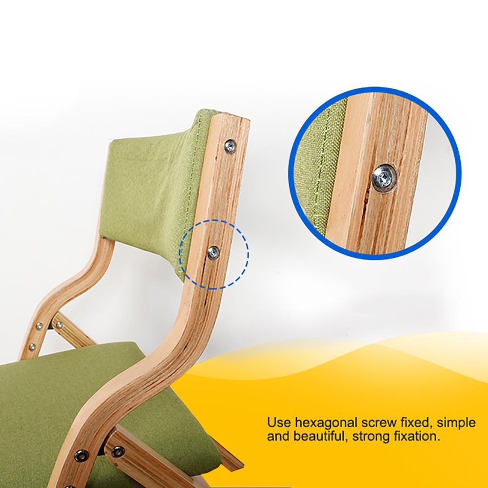 Amazon.com: SFZMRYLSY Folding Wooden Chair Solid Color Seatback Arc ...