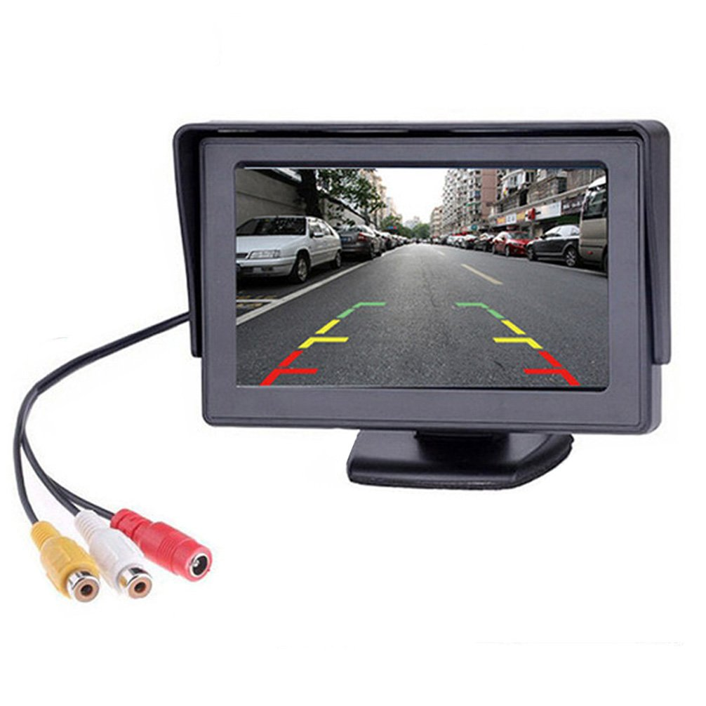 B-Qtech 4.3 Inch Car Monitor TFT LED Color Display Screen for Rear View Backup Camera