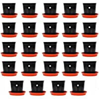 Kraft Seeds Gamla/Planter/Pot with Bottom Plate/Tray (6 inch, Multicolour, 24 Pieces)
