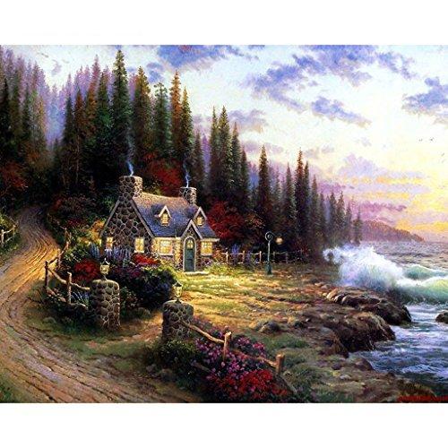 SimpleLife Pintura de Bricolaje por número Kit Pintura al óleo Digital Belleza Paisaje Rural decoración de la Lona