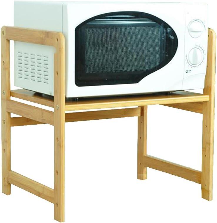 HTDZDX Estante para horno de microondas, estante de cocina multifuncional Soporte de horno de madera maciza ajustable de 2 niveles Soporte de herramientas con gancho Estante para electrodomésticos (ta: Amazon.es: Hogar