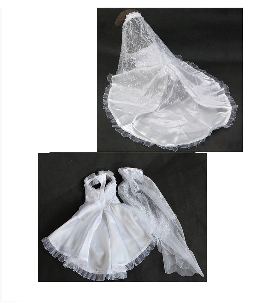 White S White S PetBoBo Pet Dog Cat Halloween Wedding Dress For Pet Dog Clothes Luxury Long Lace Dresses Married Apparel Puppy Clothing Veil Costume S
