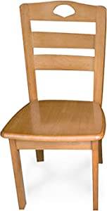 Daoyuan 2-Piece Oak Solid Wood Dining Chair,Beautiful Strong,East-west Furniture Oak Wooden Seats,Suitable for Dining Room,Etc,Load 330 Pounds