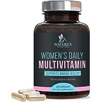 Multivitamin for Women High Potency Daily Vitamin with Biotin 1000mg - Heart, Hair, Skin, Immune Support - Made in USA - Vitamins A B C D E, Calcium, Zinc, Magnesium, Folic Acid - 120 Capsules
