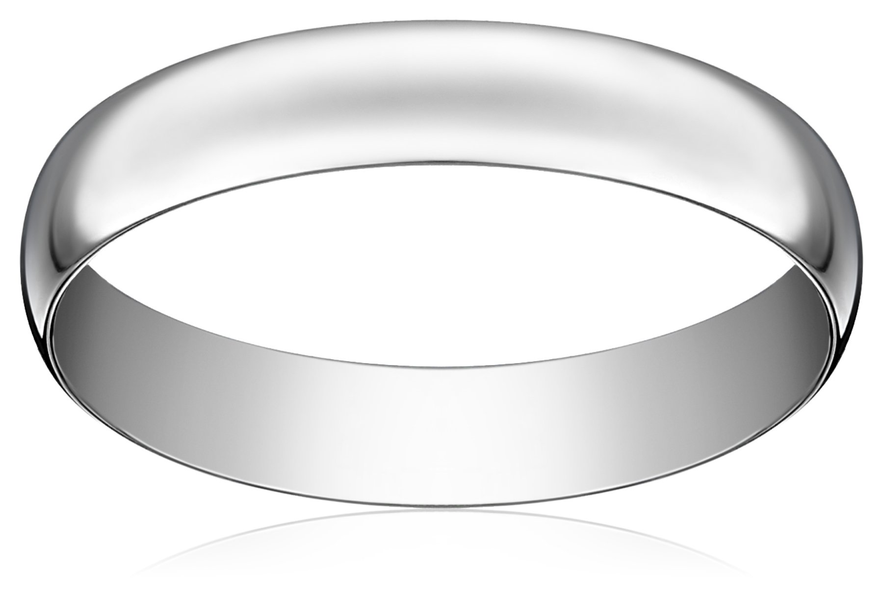 Light Comfort-Fit Platinum Band, 4mm, Size 9.5