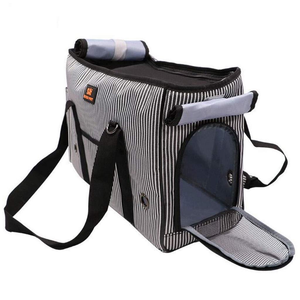 L Pet Bag Dog Out Backpack Cat Bag Dog Bag Portable Bag Breathable Diagonal (Size   L)