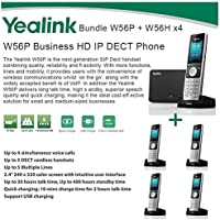 Yealink W56P + W56H X4 Cordless VoIP Phone PoE HD Voice and Base Unit USB Charge