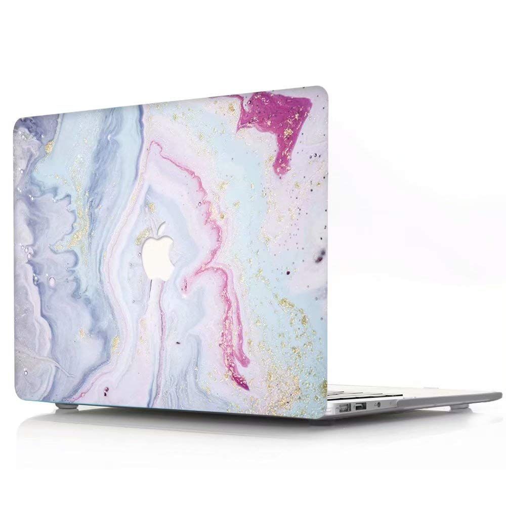 AQYLQ Matt Plastic Hard Shell Case Cover for Old Version MacBook Pro 13 with CD-ROM DL67 pink marble Model A1278 MacBook Pro 13 inch Case Non Retina