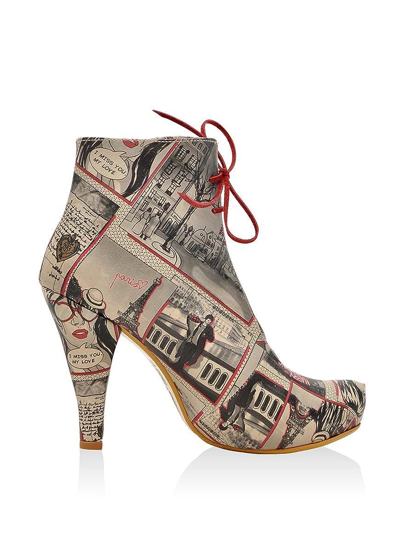 DOGO Love In Paris, Botines para Mujer, Beige/Gris, 37 EU: Amazon.es: Zapatos y complementos