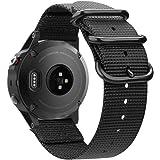 Fintie for Garmin Fenix 6 5 Band, Soft Woven Nylon Sport Strap Replacement Wristband for Garmin Fenix 6 Pro and Sapphire…