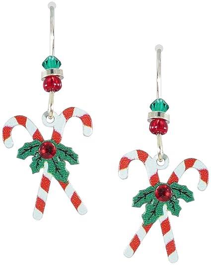 e9440b06040a1 Amazon.com: Sienna Sky Holiday Christmas Candy Cane Earrings 1279 ...