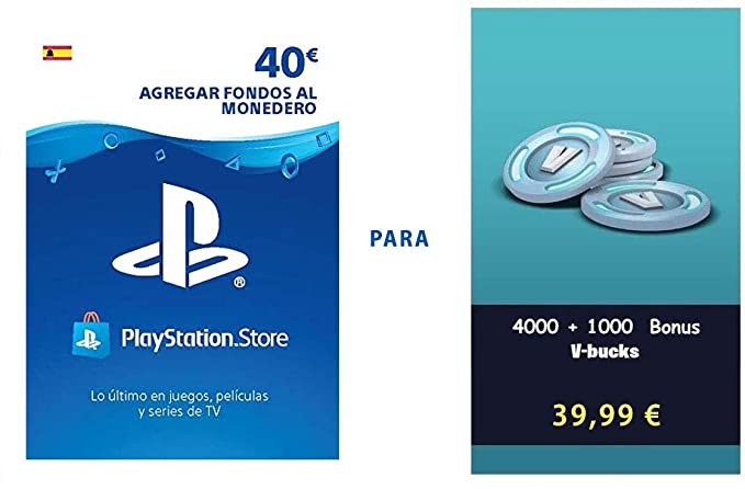PSN credit para Fortnite - 4.000 V-Bucks + 1.000 V-Bucks ...