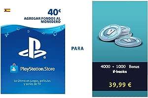 PSN credit para Fortnite - 4.000 V-Bucks + 1.000 V-Bucks - 5.000 V-Bucks DLC   PS4 Download Code - ES Account - 5,000 V-Bucks Edition  : Amazon.es: Videojuegos