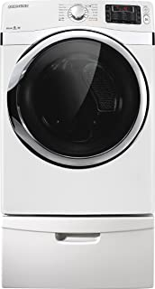 samsung dv455evgswr 73 cu ft white stackable with steam cycle electric dryer