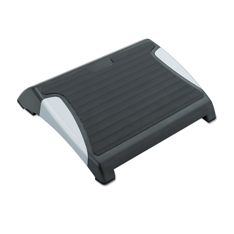 Safco 2120BL Restease Adjustable Footrest 15-1/2w x 13-3/4d x 3-1/4 to 5h Black/Silver