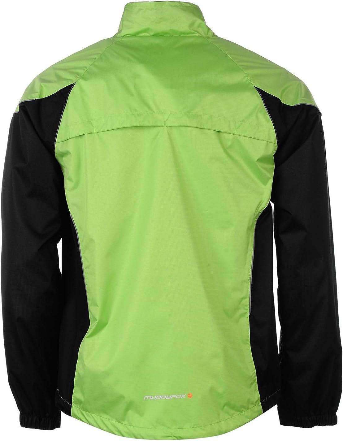 Muddyfox Mens Cycle Jacket Cycling Chest Pocket Lightweight Clothing Green//Black M