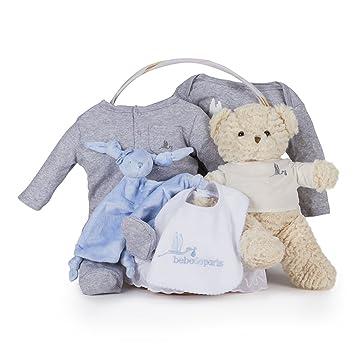 Canastilla regalo bebé Casual Esencial BebeDeParis-Azul- cesta ...