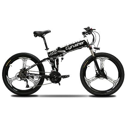 Amazon.com : Cyrusher XF770 Folding Electric Bike 17 inch Mountain ...