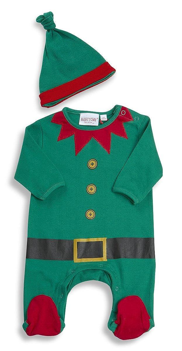 673c9e199 BABY TOWN Unisex Baby Christmas Novelty Sleepsuit and Hat Set Xmas  Premature: Amazon.co.uk: Clothing