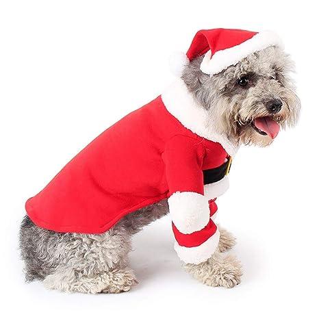 Amazon.com: MORYSONG - Disfraz de Navidad para perros y ...