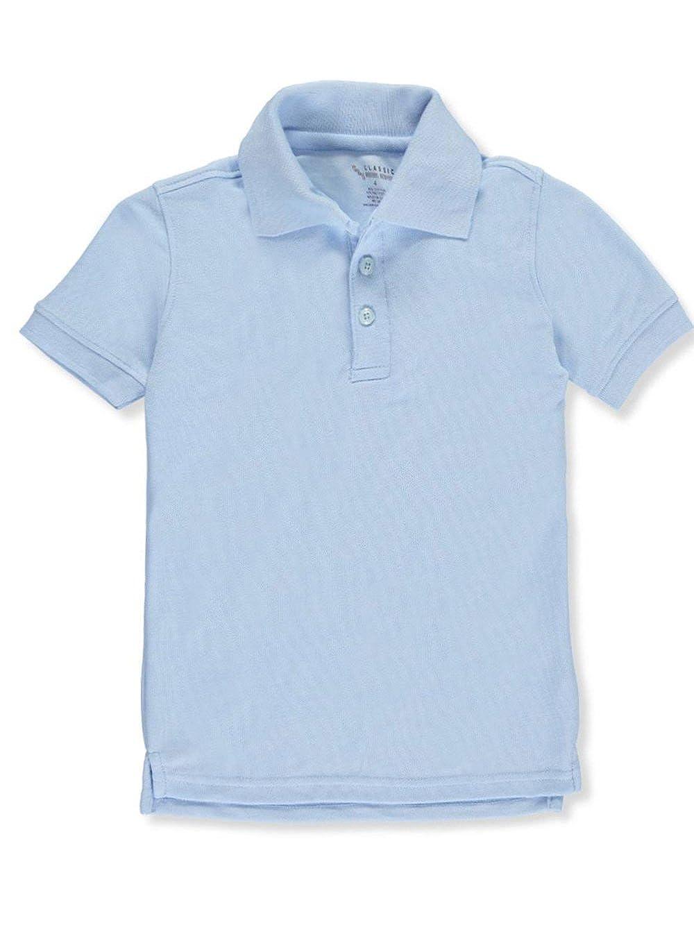 Cookie's Kids Classic School Uniform Little Boys' S/S Pique Polo - Blue, 4
