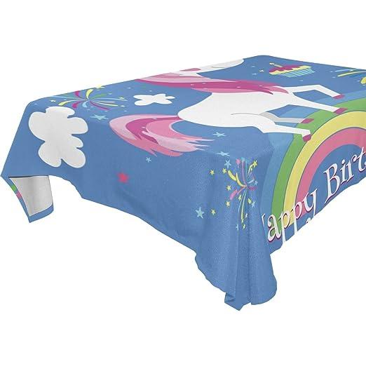wozo rectangular feliz cumpleaños, diseño de unicornio y ...