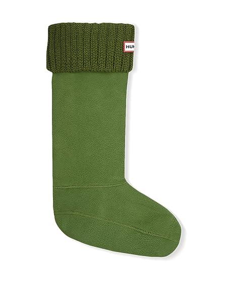 Hunter Calcetines Chunky Rib Verde L (EU 39/42)