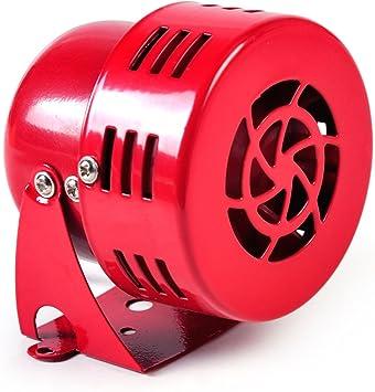 Loud 50s Red 12V Air Raid Electric Car Truck Motorcycle Driven Horn//Alarm//Siren