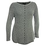 Style & Co. Womens Plus Ribbed Knit Boatneck Pullover Sweater Gray 2X