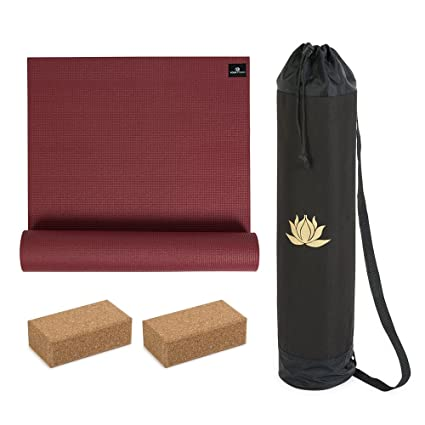 YogaStudio Eco Lotus Kit Bag - Combo de Esterilla de Yoga ...