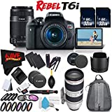 6Ave Canon EOS Rebel T6i DSLR Camera with 18-55mm Lens, 55-250mm Lens and 70-200mm - 3 Lens Combo