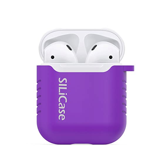 new styles 8e978 7feda SILiCase - Silicone Apple Airpods Case w/ Detachable Keychain (Extreme  Purple)