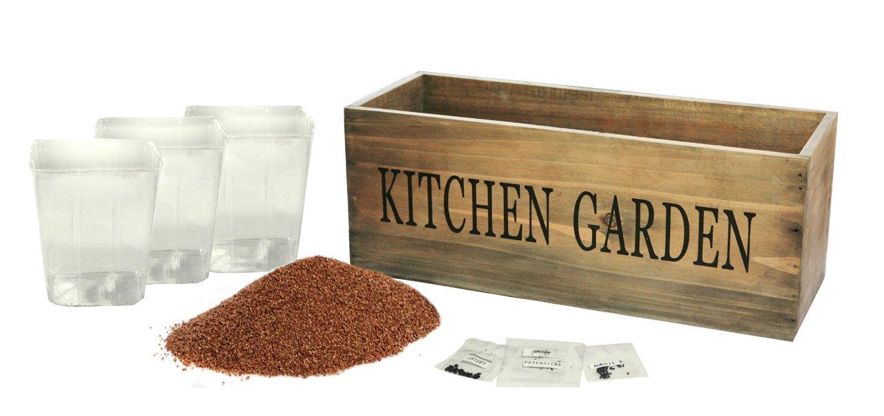 Kitchen Herb Garden Kit Windowsill Window Box Planter with Seeds Primrose TE0198