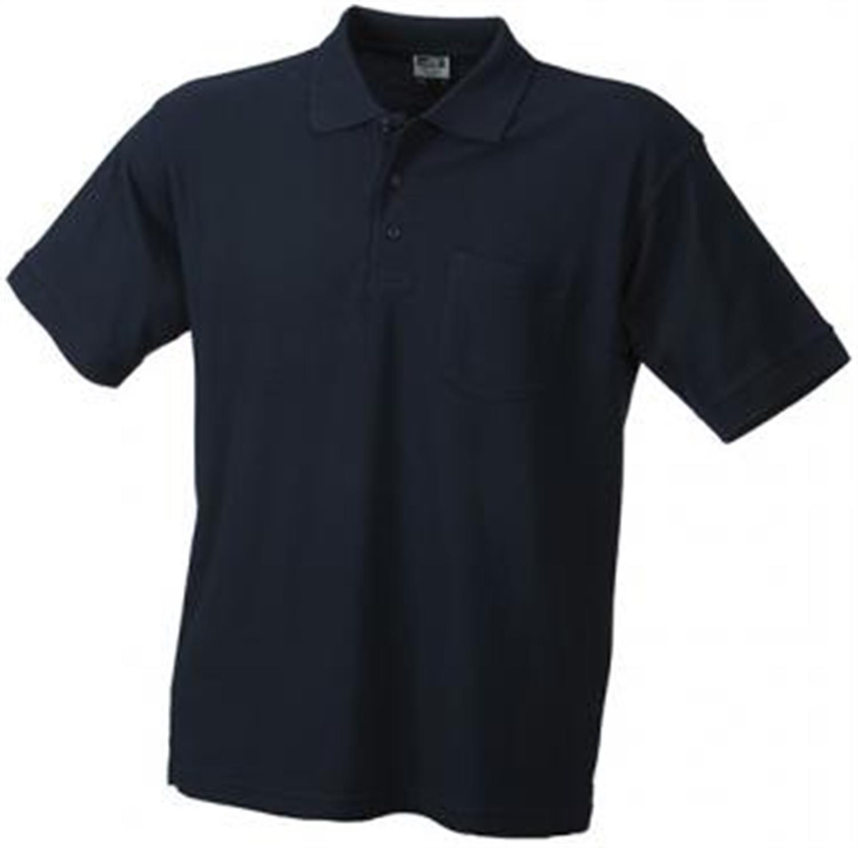 Hochwertiges feinstrukturiertes Herren Piqué-Polohemd mit Brusttasche in den Größen S-3XL Farbe Navy Größe S