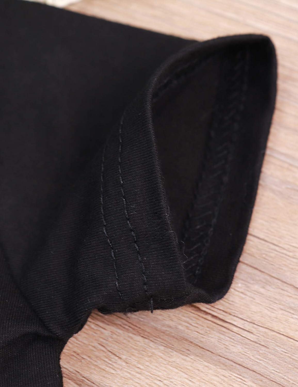 Xuefoo T-Shirt per Neonato Mini Manica Corta a Maniche Corte con Stampa di Magliette Felpa Top e Pantaloni Set Completo