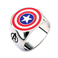 Official Avengers Captain America Shield Logo Fashion Ring – Boxed