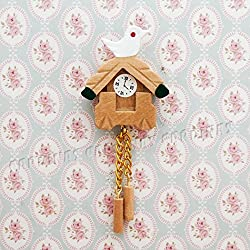 Odoria 1:12 wooden bird wall clock living room furniture miniature doll house decoration gift [parallel import goods]