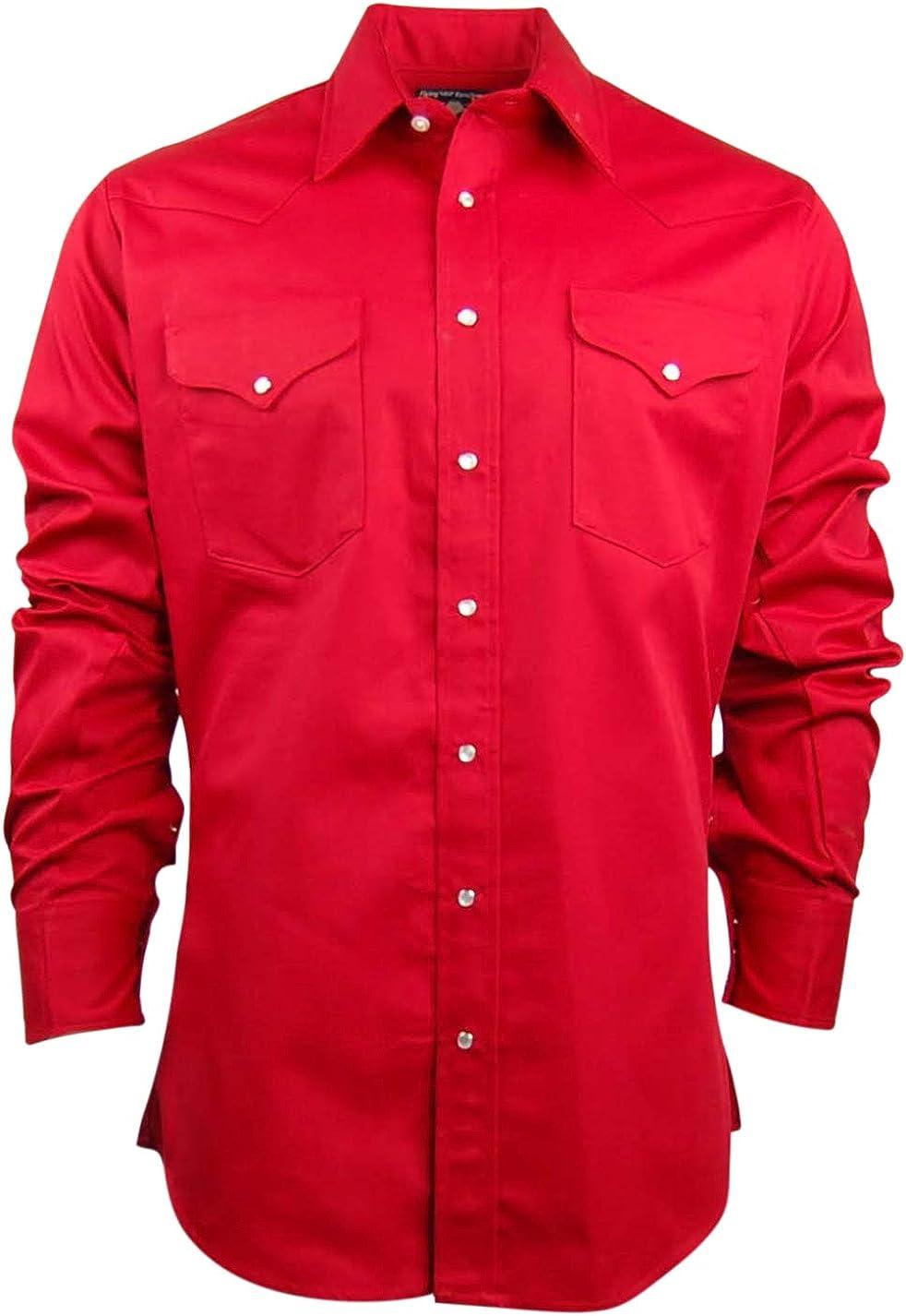 Ruddock Camisas para Hombre Corte Vaquero Western Camisa de Trabajo   Snap Front   Fabricado en Estados Unidos