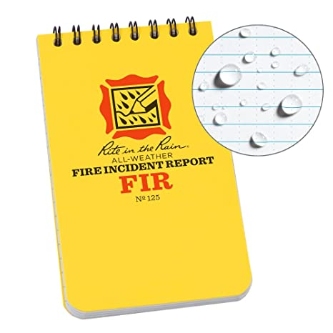 Fire Incident Report | Amazon Com Rite In The Rain All Weather Fire Incident Report