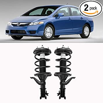 2x Front Struts Shocks For Honda Civic Coupe /& Si Sedan 2006-2011